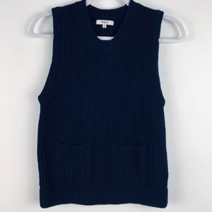 MADEWELL Wool Chunky Ribbed Pullover Sweater Vest